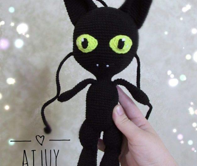 Схема вязания квами Плагг крючком из мультсериала Леди Баг и Супер кот