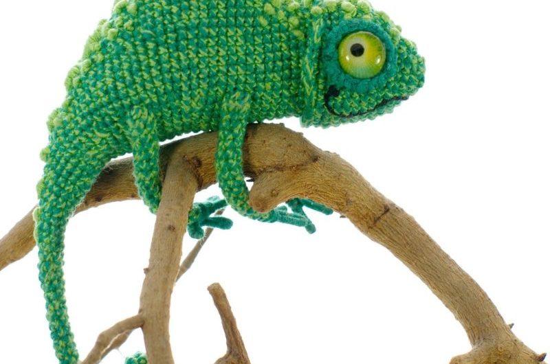 Схема вязания хамелеона крючком с полным описанием