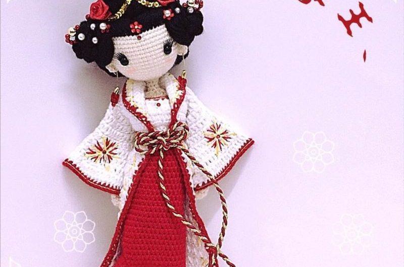 Амигуруми схема вязания гейши с переводом на русский