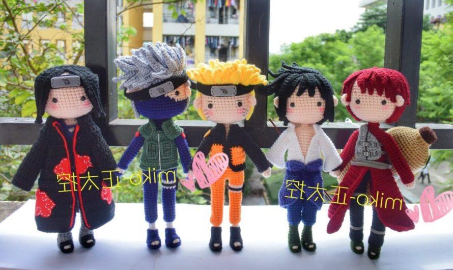 Схема вязания всех персонажей аниме Наруто крючком с переводом