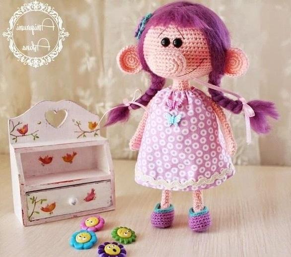 Амигуруми кукла с большим носом пошаговая схема вязания крючком