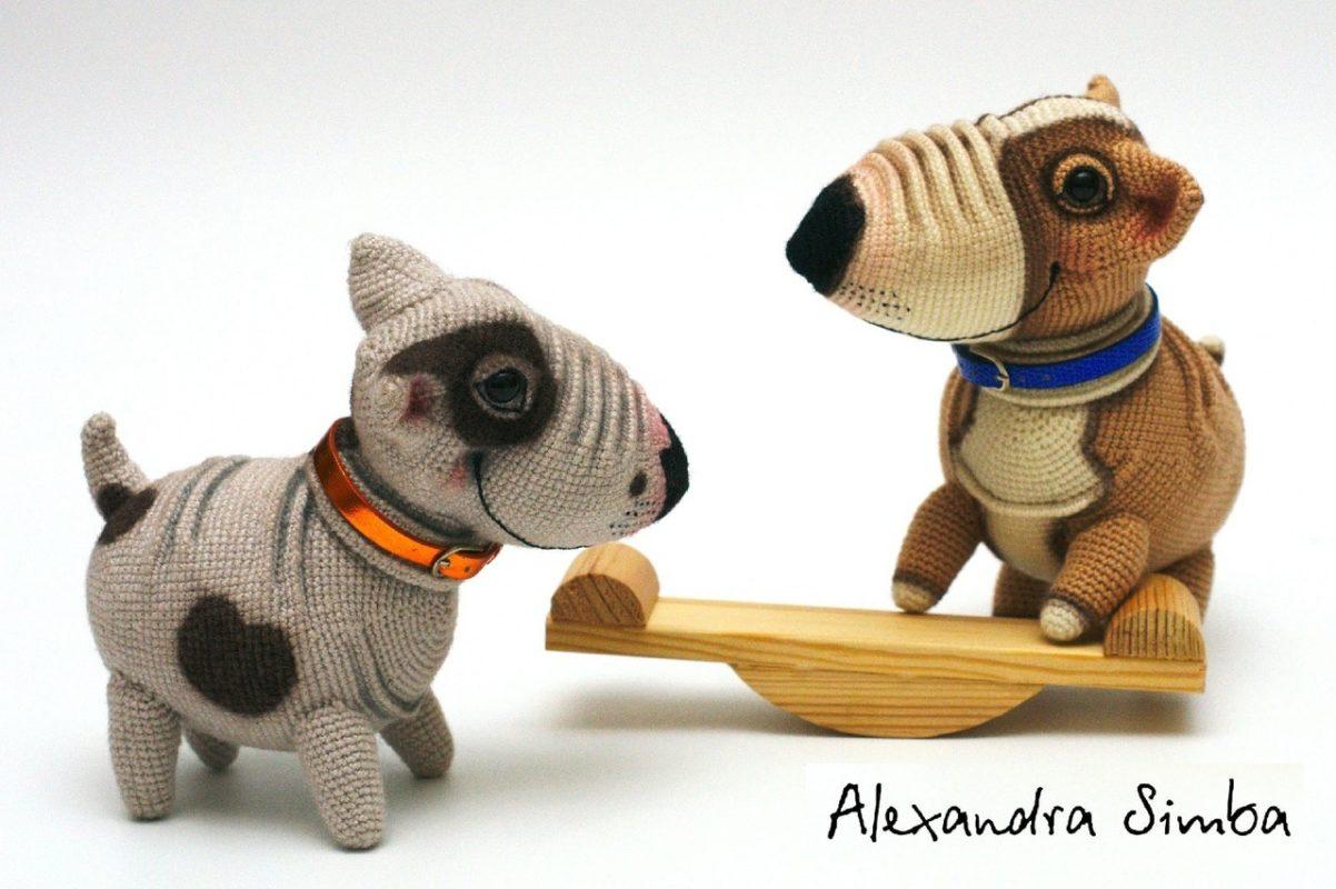 Схема вязания щенков Бульки пошаговый МК по вязанию собак