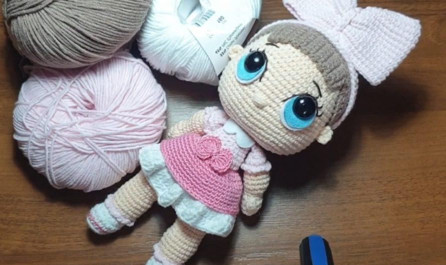 Видео МК по вязанию куклы Лол крючком с пошаговым  описанием
