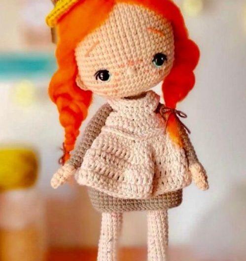 Схема вязания куклы ученицы крючком с переводом на русский