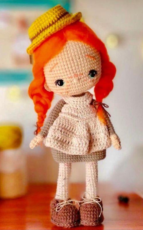 Вязаная кукла ученица крючком пошаговая схема вязания на русском