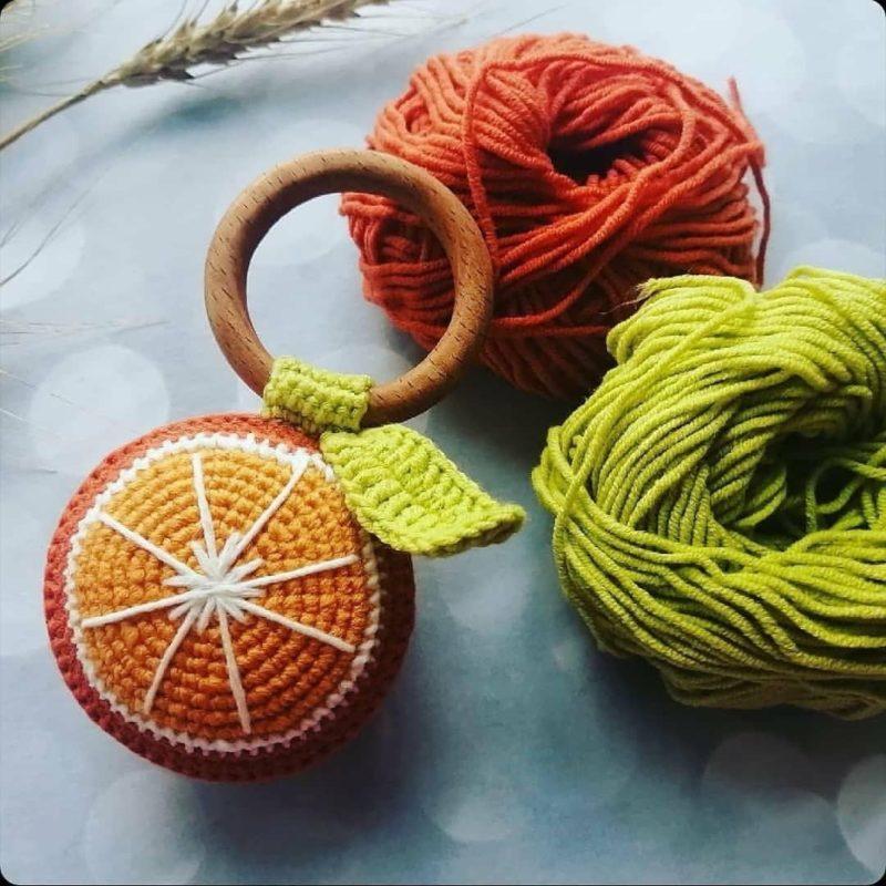Схема вязания крючком погремушки апельсин