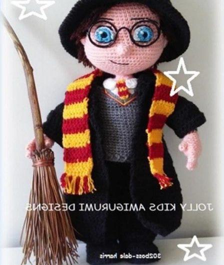 Схема вязания крючком Гарри Поттера с переводом