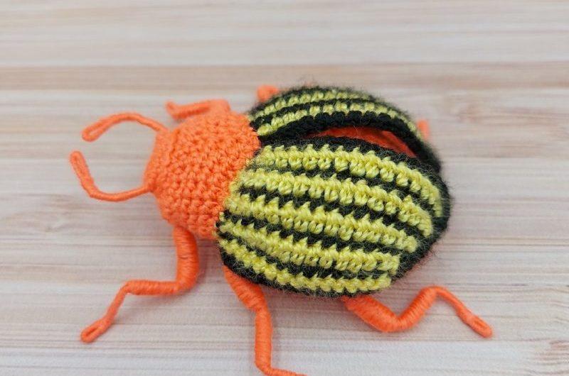 Схема вязания колорадского жука