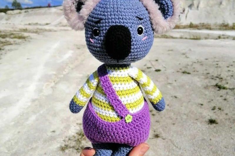 Пошаговая схема вязания коалы крючком