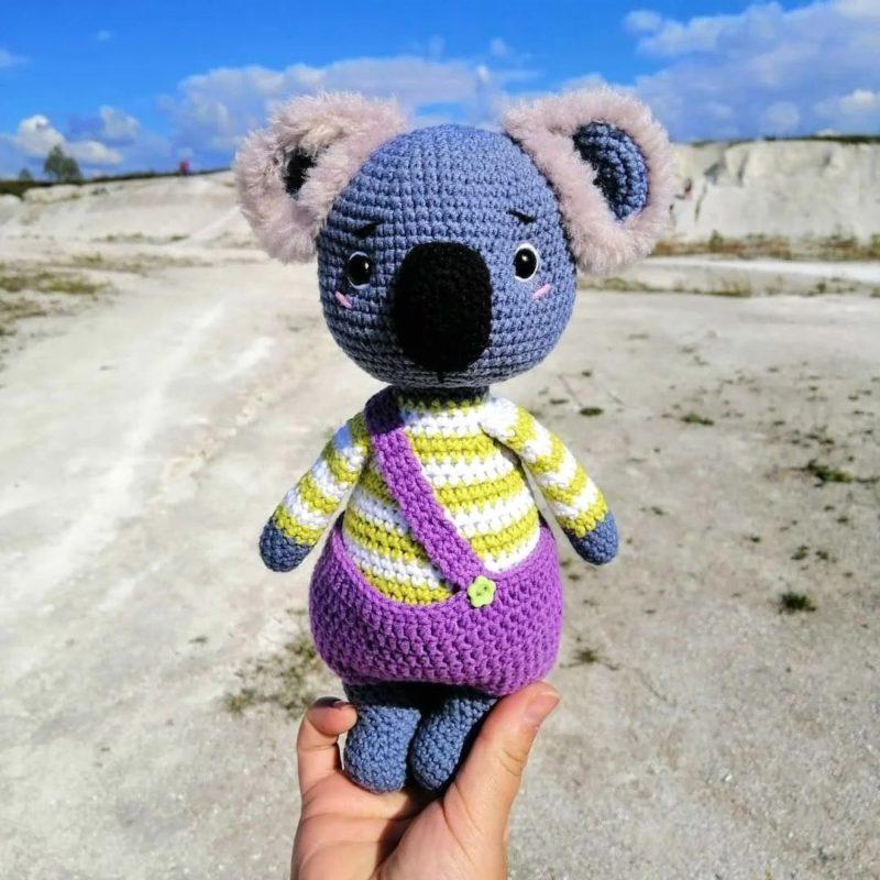 Амигуруми коала крючком с подробной схемой вязания и фото