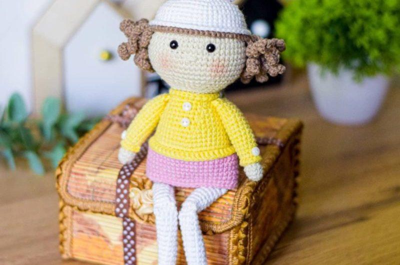Простая амигуруми схема куклы крючком