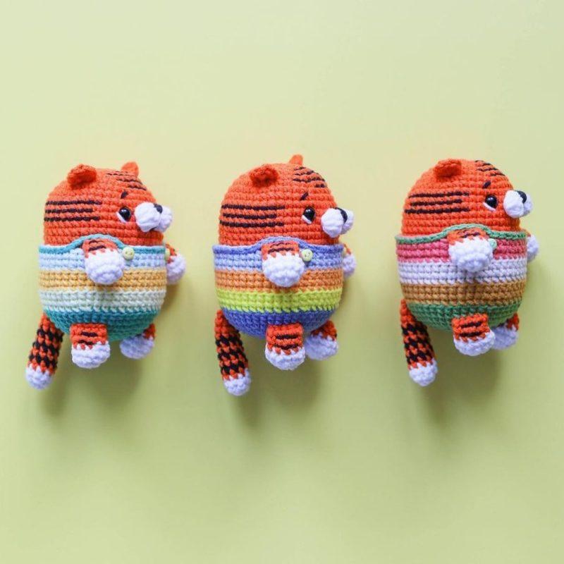 Схема вязания тигренка брелка крючком с пошаговым описанием