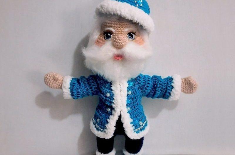 Пошаговая схема вязания Деда Мороза крючком