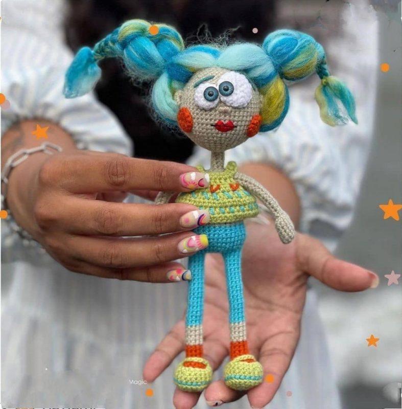Амигуруми схема кукла Гильва крючком с пошаговым описанием