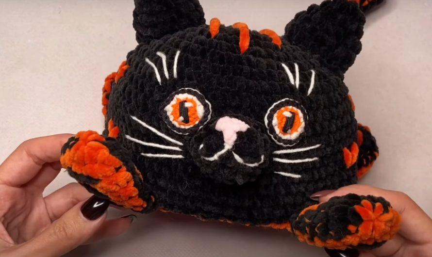 Схема вязания игрушки перевертыша кот и тигр