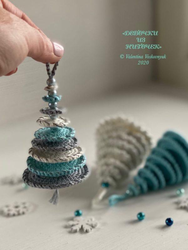Легкая схема вязания елки крючком с подробным описанием работы